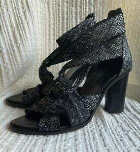 SABA gorgeous Strappy Ankle Strap Rounded High Heel Shoe 41 10AU