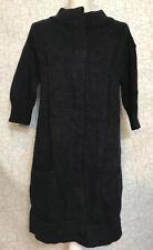 VINCE. Sz Large Cashmere Alpaca Wool Long Cardigan Coat Charcoal Gray Mock Neck