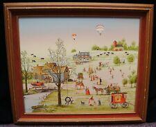 "C. Carson ""Summer Memories"" Giclee Oil on Canvas Print Framed 25x29"" B3305"
