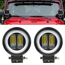 1pc Angel Eye 35W 12V LED Work Light Spotlight Driving Bright Car Truck SUV ATV