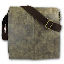 Harolds Messenger Bag Canvas Kunstleder braun Herren Schultertasche OTJ2380N