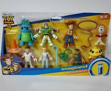 Toy Story 4 Fisher Price Imaginext Deluxe Figure Pack New Woody Buzz Bo Peep