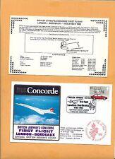 CONCORDE SST BRITISH AIRWAYS FIRST FLIGHT LONDON-BORDEAUX OCT 1982  FLOWN ON