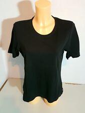 PUBLIC  Damen  Shirt  T-Shirt  Gr. 42  schwarz  Kurzarm Baumwolle  KLASSIKER