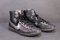SB517 NIKE Blazer Mid LTR Wms Sneaker Sportschuhe Gr. 40,5 Leder schwarz silber
