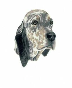 Machine Embroidered Applique  English Setter size 4.6W X 6.0H or 2.3W X 3.0H