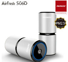 PAPAGO Airfresh S06D Air Purifier use in car and at home / PM2.5 /3 Colors