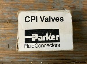 "PARKER CPI 2 WAY NEEDLE VALVE 1/4"" BRASS NEW OLD STOCK"
