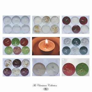 Christmas Glitter Tea lights Home Decorations wedding Twisted Charm Candles