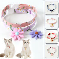 Daisy Flower Pet Cat Collar Adjustable Safety Puppy Collar Necklace Accessories