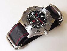 Russian military watch VOSTOK. Komandirskie. Genuine leather strap. 350504 К35