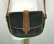 Vintage Dooney and Bourke Equestrian Crossbody Handbag Black Brown Purse