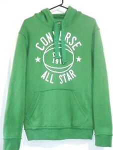CONVERSE MENS SIZE SMALL GREEN PULLOVER SWEATER HOODIE WITH POCKETS FREE POST