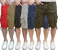 Crosshatch Men's Designer Branded Twill Lightweight Cargo Summer Shorts, BNWT
