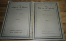The Mirror of Music 1844-1944 by Percy A Scholes 2 Volume Set 1947
