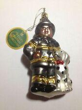 *NEW* Inge-Glas German Christmas Tree Ornament - Firefighter w/h Dog - 1-057-03