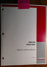 Case RMX790 Offset Disk Owner's Operator's & Set-Up Manual 87535377 5/06