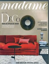 MADAME FIGARO--SPECIAL DECO STYLES D'HIVER/TENDANCE SCANDINAVE