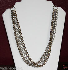 Women Fashion Necklace Gold & Silver multi Layer Chunky Chain links Necklace