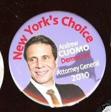 ANDREW CUOMO 2010 New York pin ATTORNEY GENERAL Campaign pinback
