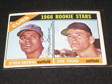 BYRON BROWN SIGNED AUTOGRAPHED 1966 TOPPS CUBS ROOKIE