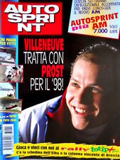 Autosprint 15 1997 Villeneuve tratta con Prost. Incidente Fittipaldi SC.55