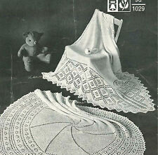 Vintage Baby Shawls- Round & Square on 1 knitting pattern- lovely old shawls