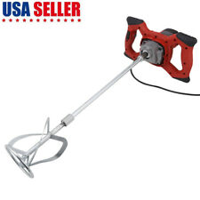 Electric Mortar Mixer 1600W Ac 110V High Low Gear 6 Speed for Paint Cement Grout