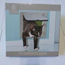 """New Dog Cat PET DOOR 9"""" X 8"""" Clear 4 Way Locking Door Easy install"""