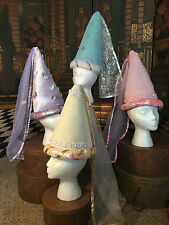 Princess Set of 4 Hats from Elope Pink Purple Frozen Golden Dress up Costume