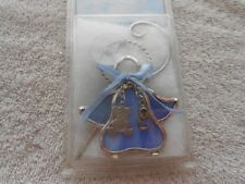 NEW GLASSICAL HEIRLOOMS BABY BOY BLUE GLASS SUNCATCHER OR CHRISTMAS ORNAMENT