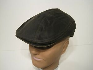 Dorfman Pacific Weathered cotton driving cap hat large / xl