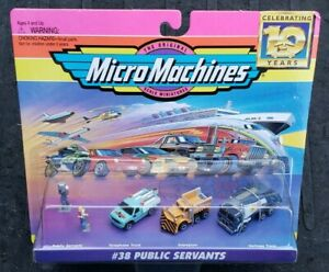 Micro Machines #38 Public Servants Vehicle Set Galoob Vintage 1994 VHTF MISB