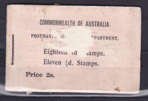 WA49) Western Australia 1910 Booklet ACSC B5B(W) Rare booklet cat. $15,000