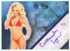 "CASSANDRA LYNN ""BLUE AUTOGRAPH CARD /5"" BENCHWARMER LIMITED 2011"