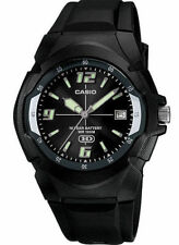 Casio Men's 10 Year Battery Watch, 100 Meter W/R, Date, Black Resin, MW600F-1AV