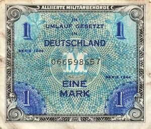 Germany 1 Mark 1944 P-192a AU