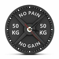 Barbell Wall Clock Dumbbell Bodybuilding Patterned Watch Decoration Quartz Gears