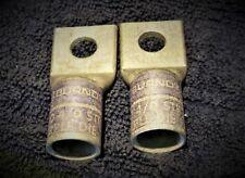 Burndy Ya28-L4 Box 4/0 Cu 1-Hole Short 3/8 Qty 2