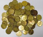 100 Large and Small NAMCO Arcade Gaming Tokens, Brass Colored!