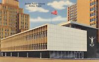 Dallas Texas~Dallas Public Library~1940 Postcard