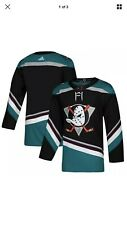 Adidas Anaheim Ducks Alternate Jersey Black/Teal - NEW with Tags