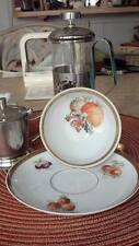 Tea cup and saucer Golden Crown E & R Orchard pattern Larger Co.
