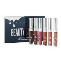 Beauty Glazed 6 Colors /Set Waterproof Lipstick Matte Lip Gloss Easy To Wea B5T3