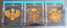 THE MUMMY | RETURNS | TOMB DRAGON EMPEROR Blu-Ray Limited STEELBOOK Trilogy Set
