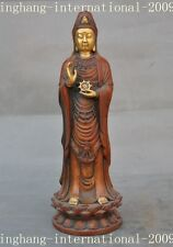 Old Chinese bronze gilt Buddhism freedom Kwan-Yin GuanYin Bodhisattva statue
