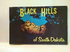 Black Hills South Dakota Presidents Folder Postcard booklet souvenir Lustichrome