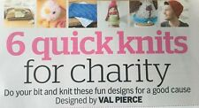 KNITTING PATTERN 6 Quick Knits for Charity Dog Blanket Cat Toy Dog Egg Cosy Hat