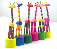 Magnetic Wooden Toys Dancing Standing Rocking Giraffe Gift Child Kid Toy In VBDS