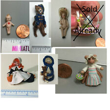 Choice miniature Pat Boldt doll & other small Dolls for dollhouses